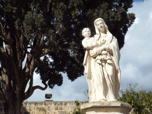 Sanctuary of Our Lady of Mellieha, Malta - the tea break project solo female travel blog