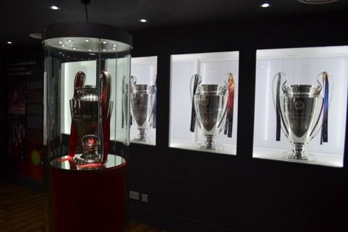 LFC Museum - Champions League Trophies