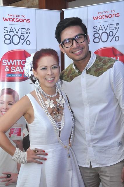 Watsons Switch and Save Ambassadors Tessa Valdez and Christian Bautista