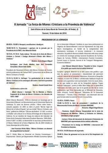 """Jornada Cultural """"La Festa de Moros i Cristians en la Província de València"""""""