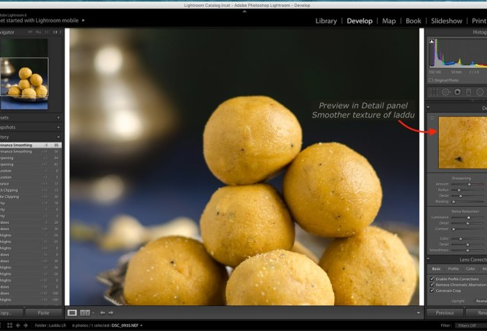 Luminance in Lightroom, Lightroom Tutorial for Food photos, Lightroom tutorial, Editing RAW files in Lightroom,  Lightroom Food Tutorial, How to edit food photos in Lightroom,