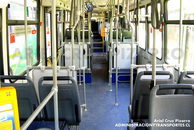 Transantiago (Interior Articulado) - Metbus - Caio Mondego HA / Mercedes Benz (BJFJ14)