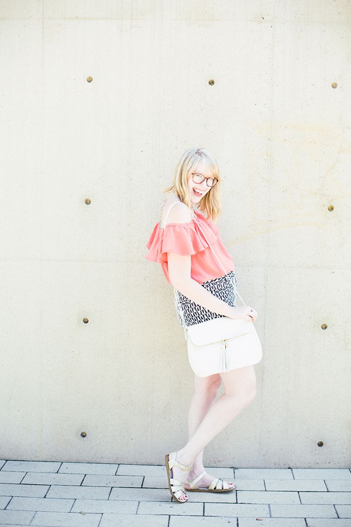 printed shorts OTS blouse5