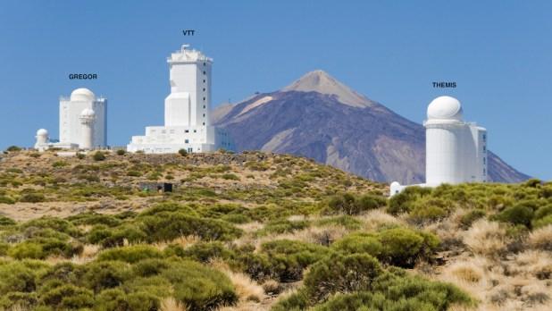 Telescopios solares Tenerife