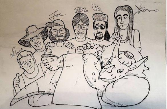 Caricatura feita por Shannon John Shea