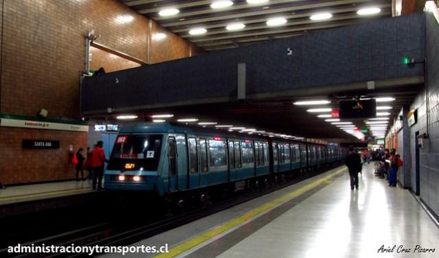 Metro de Santiago | Santa Ana (L5) | Alstom NS93 N2068 (Ruta Roja)