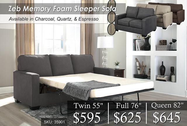 Zeb Memory Foam Sleeper Sofas 35901 - Copy