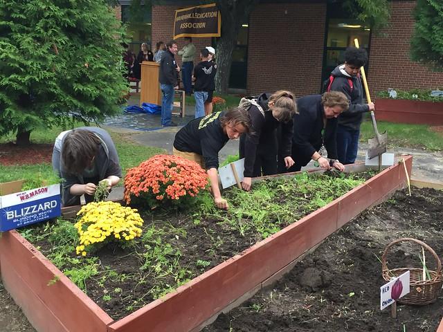 Haverhill HS Learning Garden Harvest Event