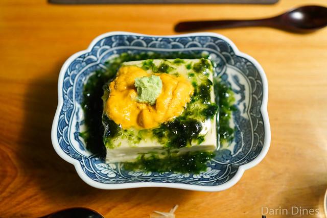 silky egg tofu, uni, fresh nori & wasabi