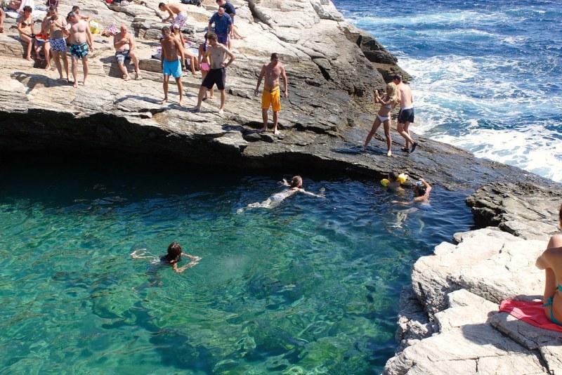 Thassos Giola, doğal havuz, denize girilecek yerler