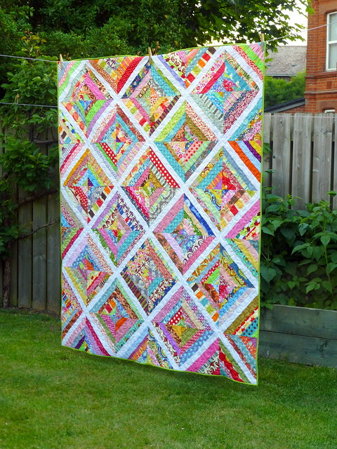 Scrappy Strips Quilt (British Patchwork & Quilting Sept16)