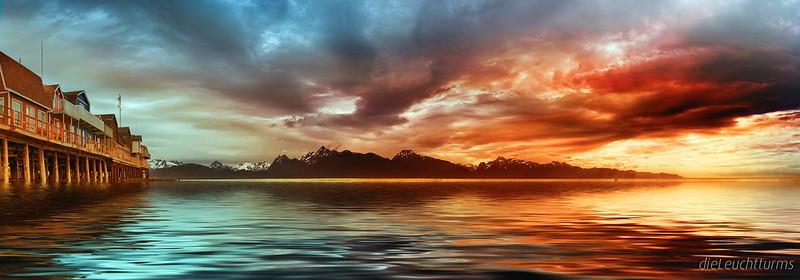 Mystic dusk above Kachemak Bay