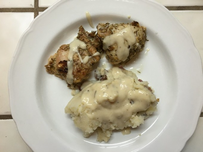 Rosemary Chicken and Mashed Potatoes with Gravy