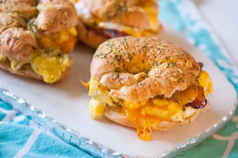 Baked Brekfast Croissant Sandwiches 3
