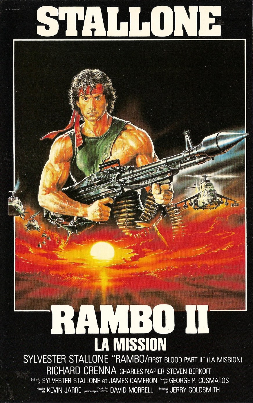 Rambo - First Blood Part II (1985) | Amazing Movie Posters