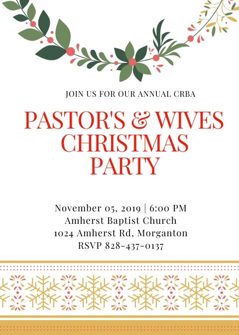 Christmas Invite 2019 Front