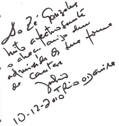 Autografo Julio