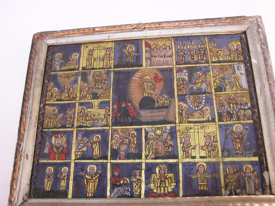 Museo de iconos en cristal en Sibiel Rumania 012
