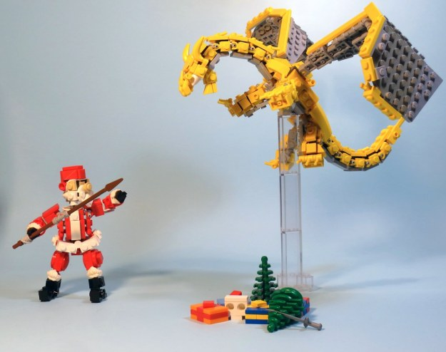 Santa versus dragon