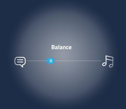 C-Adjust balance between audio and meditation tracks