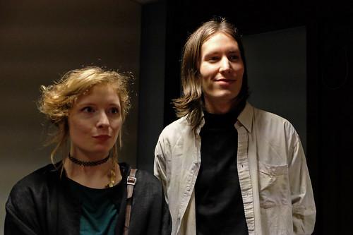 Kulturstipendiaterna Caroline Jägerfeldt och Jesper Henningsson