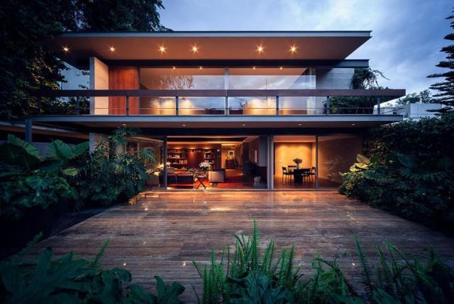 Modern Concrete House: Casa Sierra Leona by José Juan Rivera Río, Mexico City, Mexico