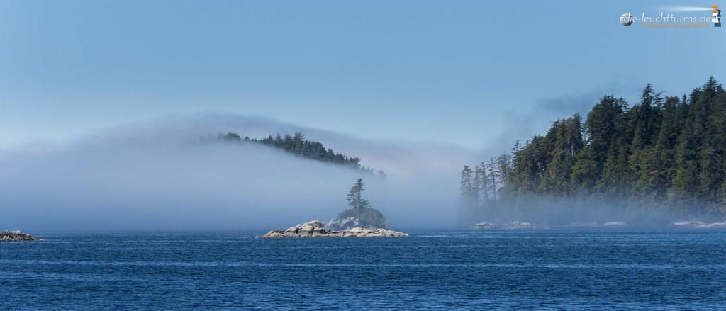 Broken Islands under sea fog