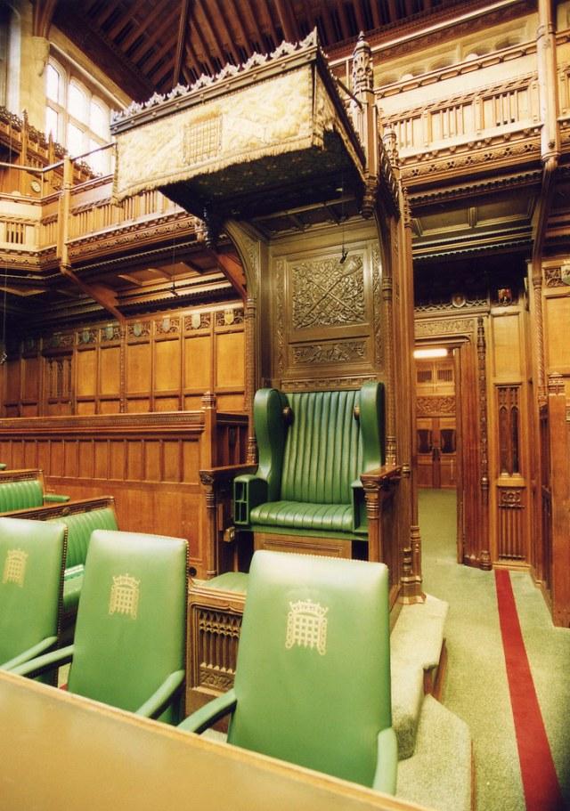 House of Commons Chamber: Speaker's chair