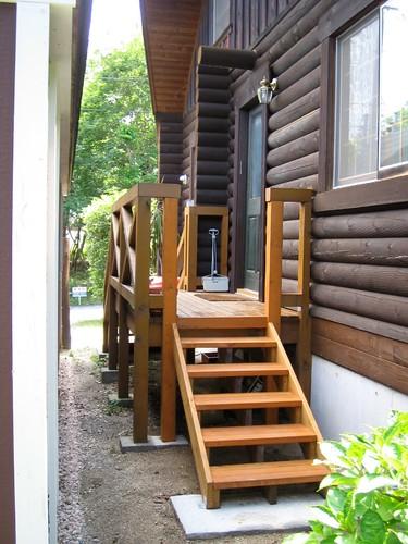 Building Exterior Wood Steps