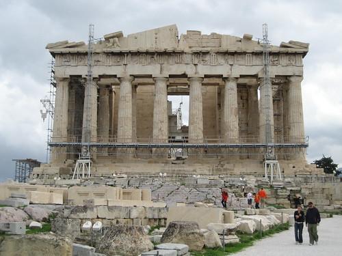 Partenón en la Acrópolis de Atenas. ViajerosAlBlog.com.