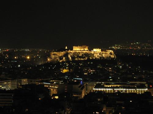 Acrópolis de Atenas desde la Colina Licabeto. ViajerosAlBlog.com.