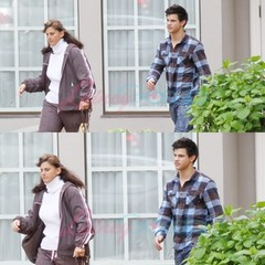 Taylor Lautner and mom in Vancouver for Mother's Day | Flickr
