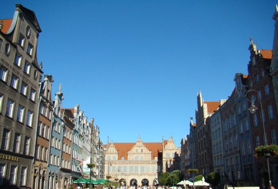 Gdansk Puerta verde calle Dlugi Polonia 09