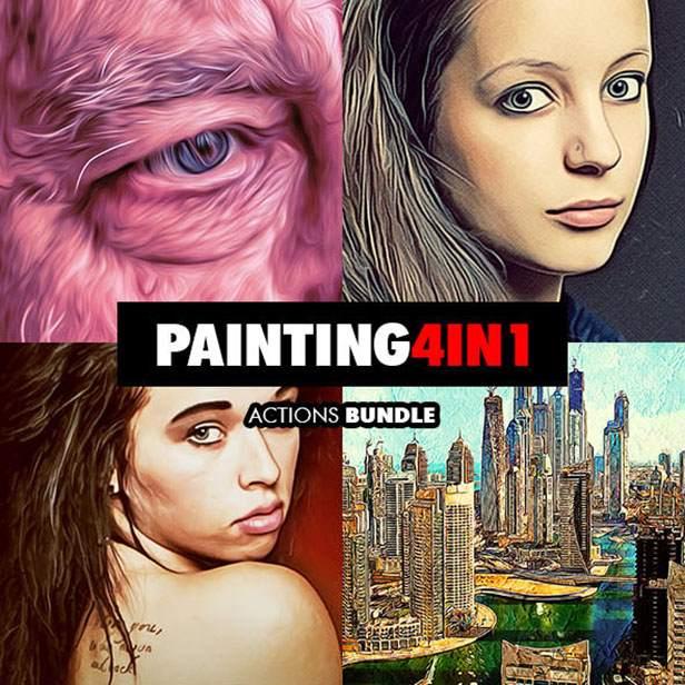 Ink Spray Photoshop Action V.1 - 129