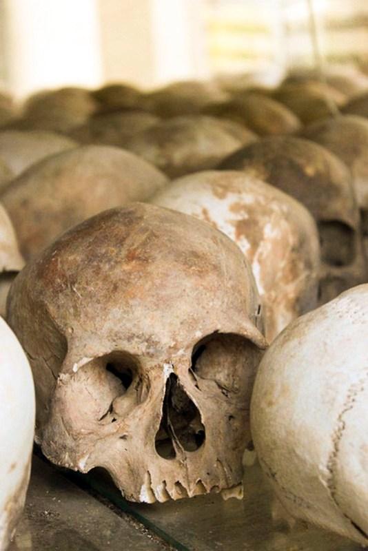Skeletter i Cambodja