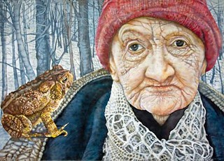 Old Woman and Toad, by Judy Somerville