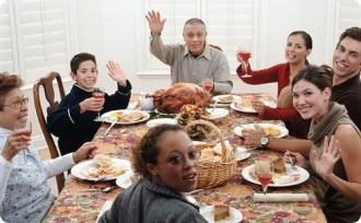 thanksgiving family sober