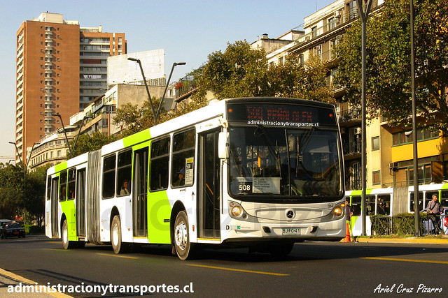 Transantiago 508 | Metbus | Caio Mondego HA - Mercedes Benz / BJFC41