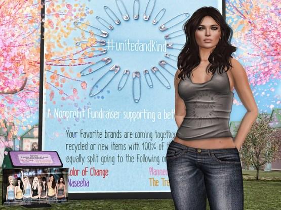 #UnitedAndKind Nonprofit Fundraiser in Second Life