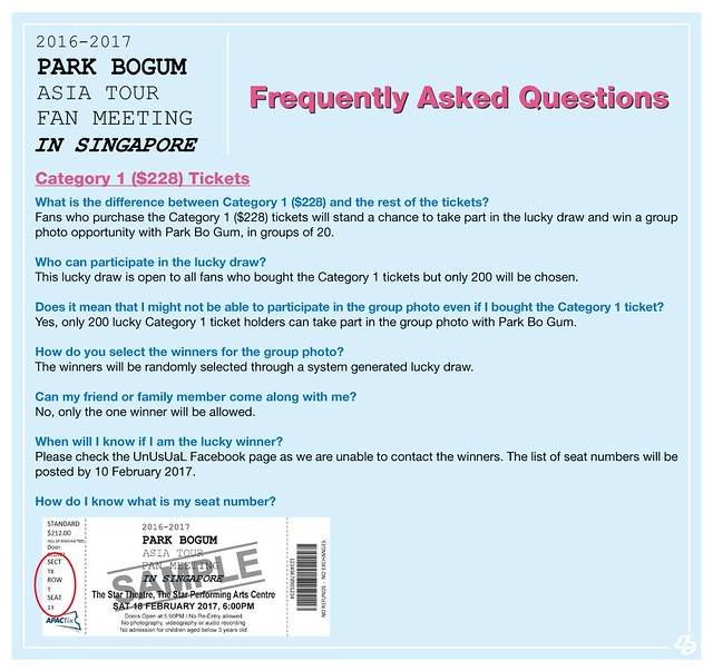 Park Bogum Asia Tour Fan Meeting in Singapore FAQ1