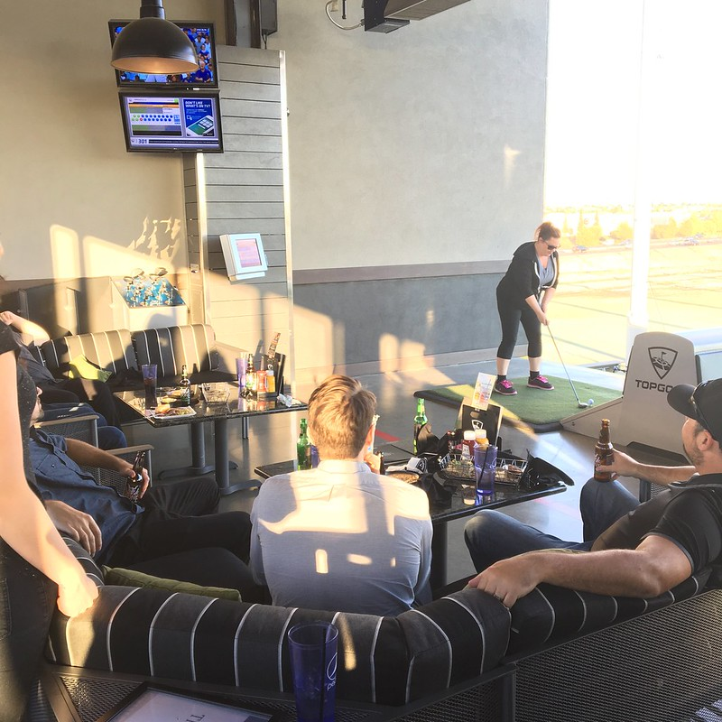 Having fun at TopGolf