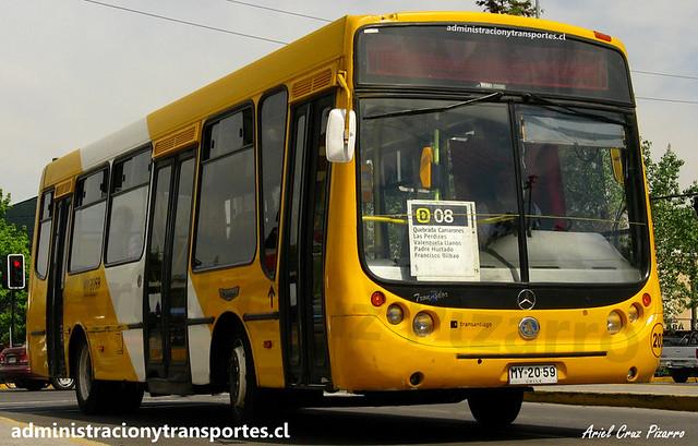 Transantiago D08 | STP Santiago | Metalpar Tronador - Mercedes Benz / MY2059