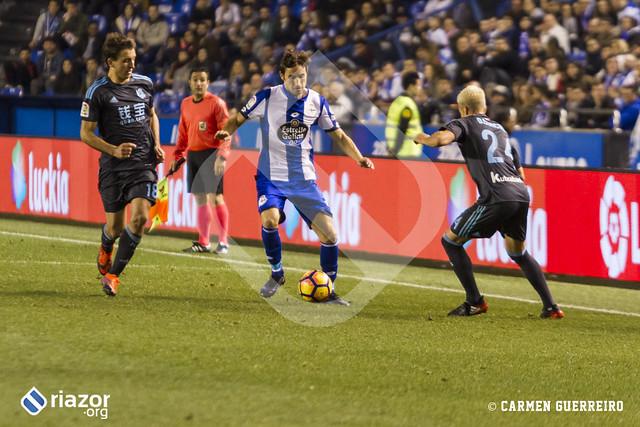 Temporada 16/17. RC Deportivo 5 - Real Sociedad 1