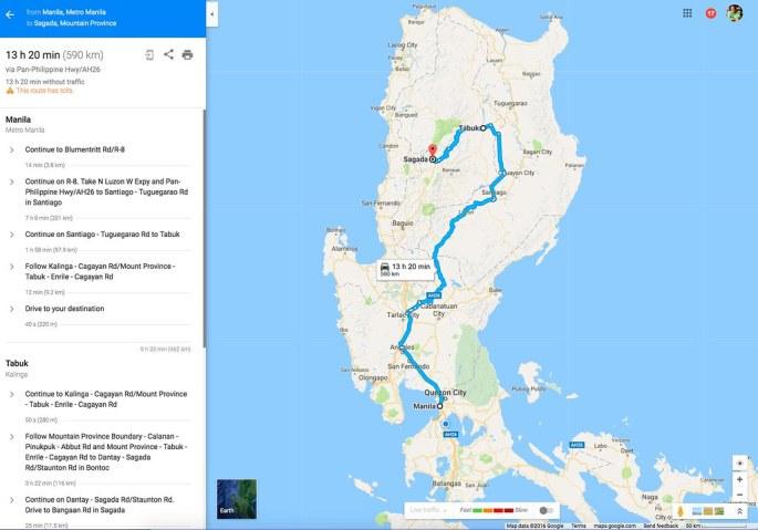 Manila to Sagada via Tabuk
