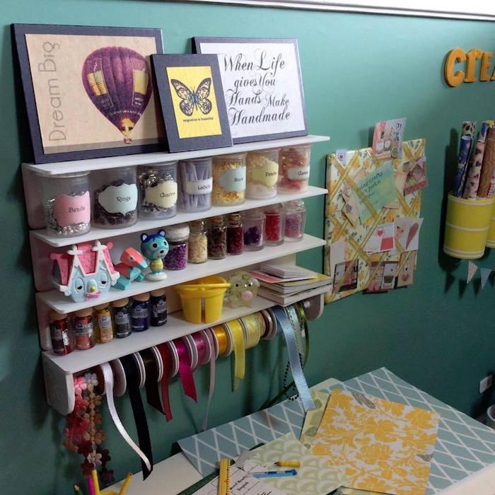 Homemade Parties DIY Party _Miniature Craft Room01