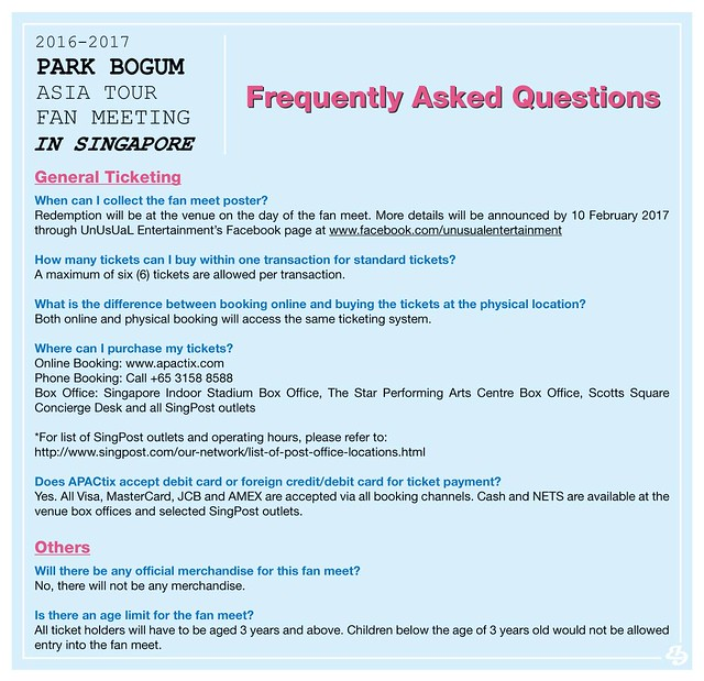 Park Bogum Asia Tour Fan Meeting in Singapore FAQ4