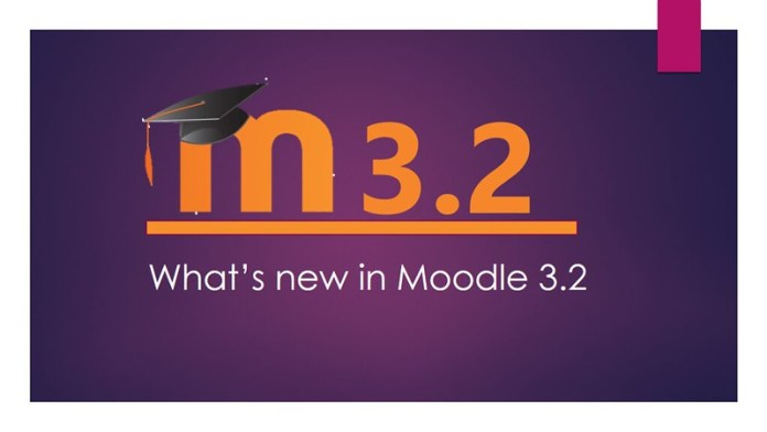 Moodle 3.2 new features