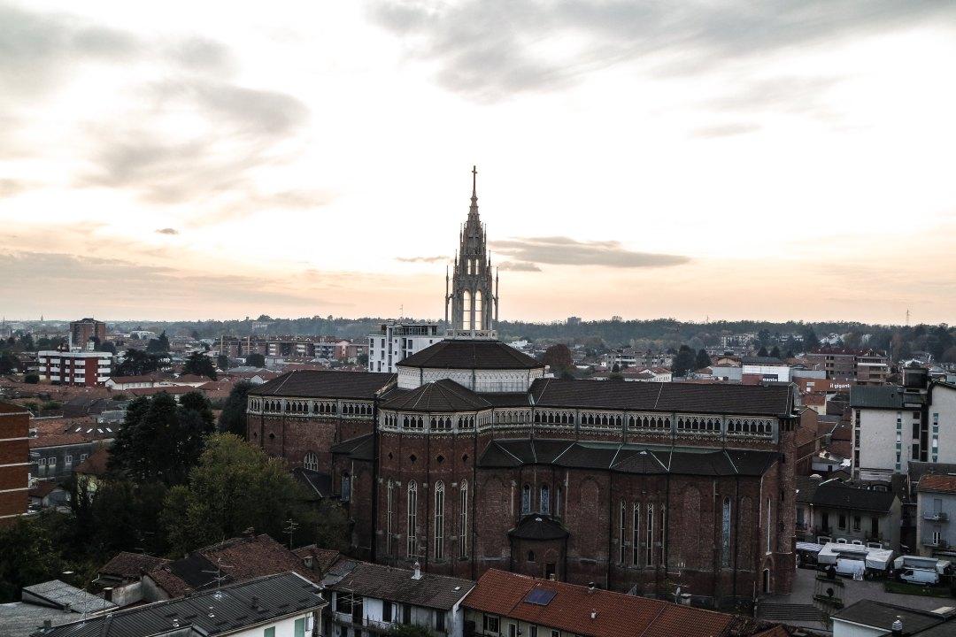Vista dalla torre del Palazzo Arese Borromeo