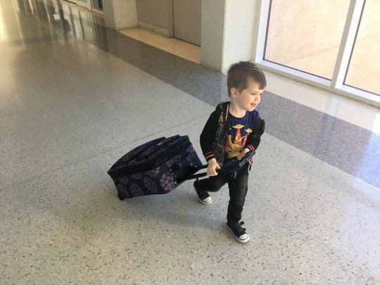 carrying his own bag