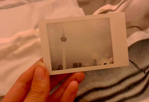 Polaroid of KL tower